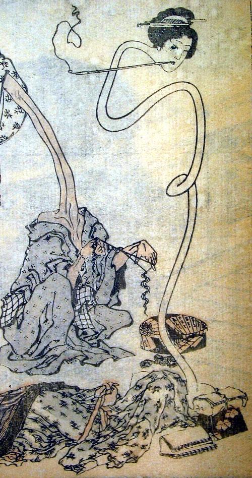 Youkai (Apariciones Hechizadas) Hokusai_rokurokubi
